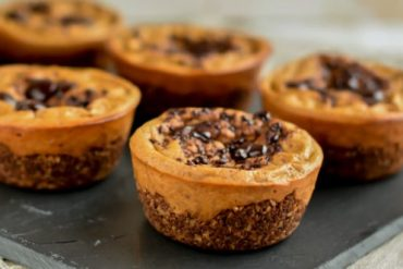 Sweet potato oat and walnut tartlet
