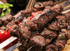 Aromatic spiced beef Tikka skewers
