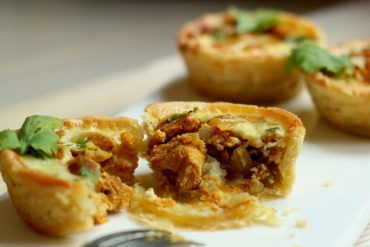Chat Marsala chicken tart